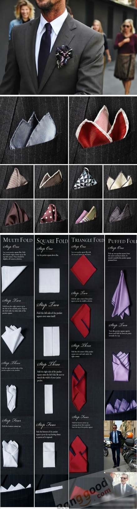 Pocket square foldings