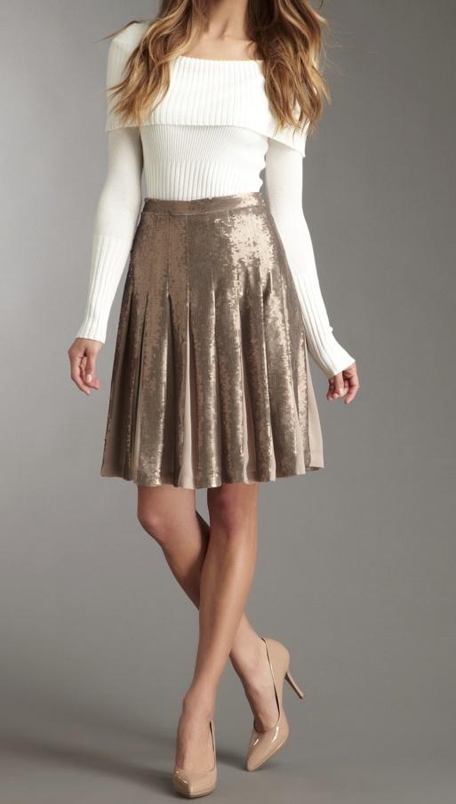 pleated sequin skirt / BCBG