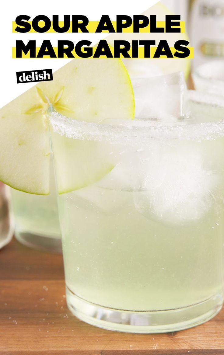 Sour apple margaritas