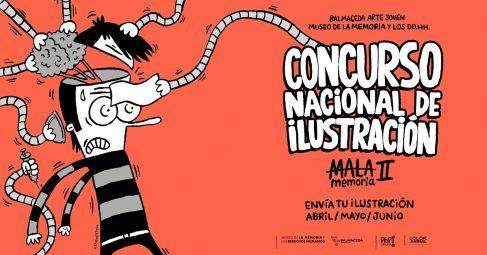 Concurso nacional de ilustración organizado por el Museo de la Memoria y los DDHH junto a Balmaceda Arte Joven.