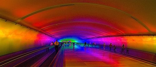 I've loved it every time I've passed through this tunnel!  Detroit Airport Tunnel
