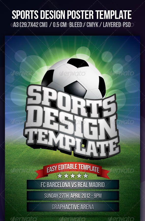 Sports Poster Design Template 8 best Sport