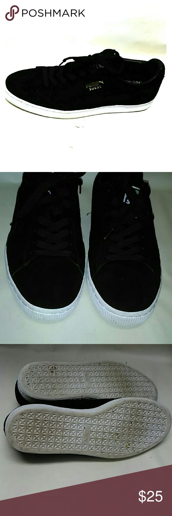 Puma Black Suede Mens Sneakers Tennis Shoes Very clean great condition Puma Shoes Sneakers
