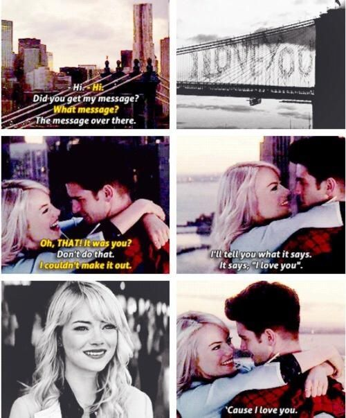 The Amazing Spider-Man 2 Seeing this scene again make me sad, just the thought that Gwen don't will appear anymore.  That's so unfair, I really liked seeing them together. ;(