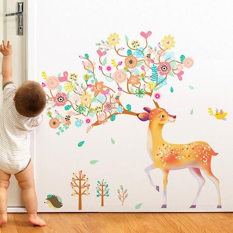 Beautiful Deer Wall Sticker for your kids nursery