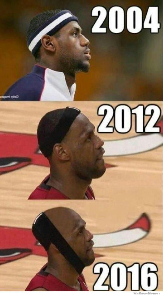 Lebron hair line