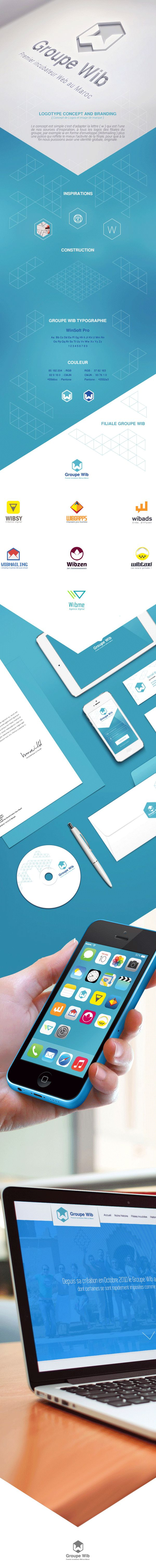 Groupe Wib Branding by Nizar Hassisni, via Behance