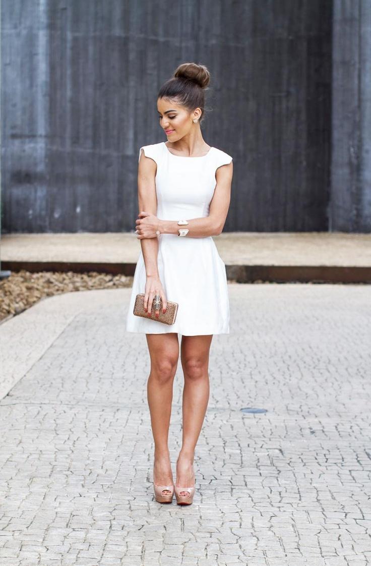 Wedding dresses for thin figures  best Little White Dress images on Pinterest