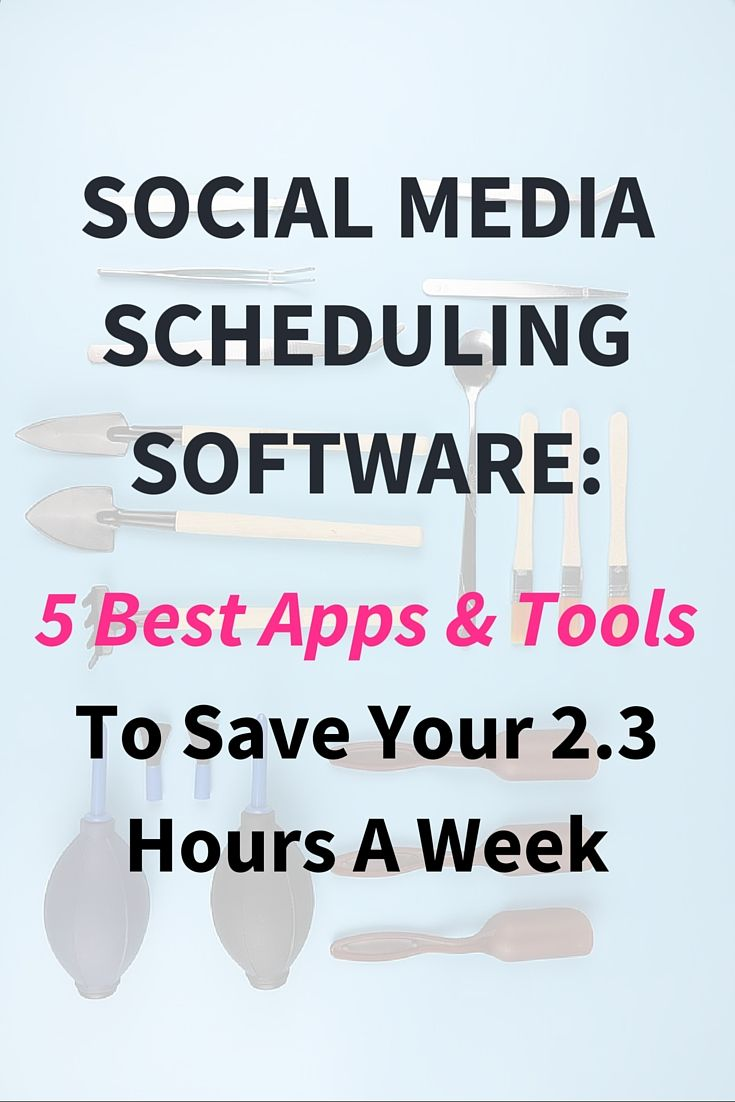 Social Media Scheduling Software: 5 Best Apps & Tools  These tools and apps must be included in your social media marketing strategy. It benefits every blogger, entrepreneur, business.  If you want to grow your blog or business using social media then check out these tools. Save 2.3 hours a week. Click through to read the full post >>>