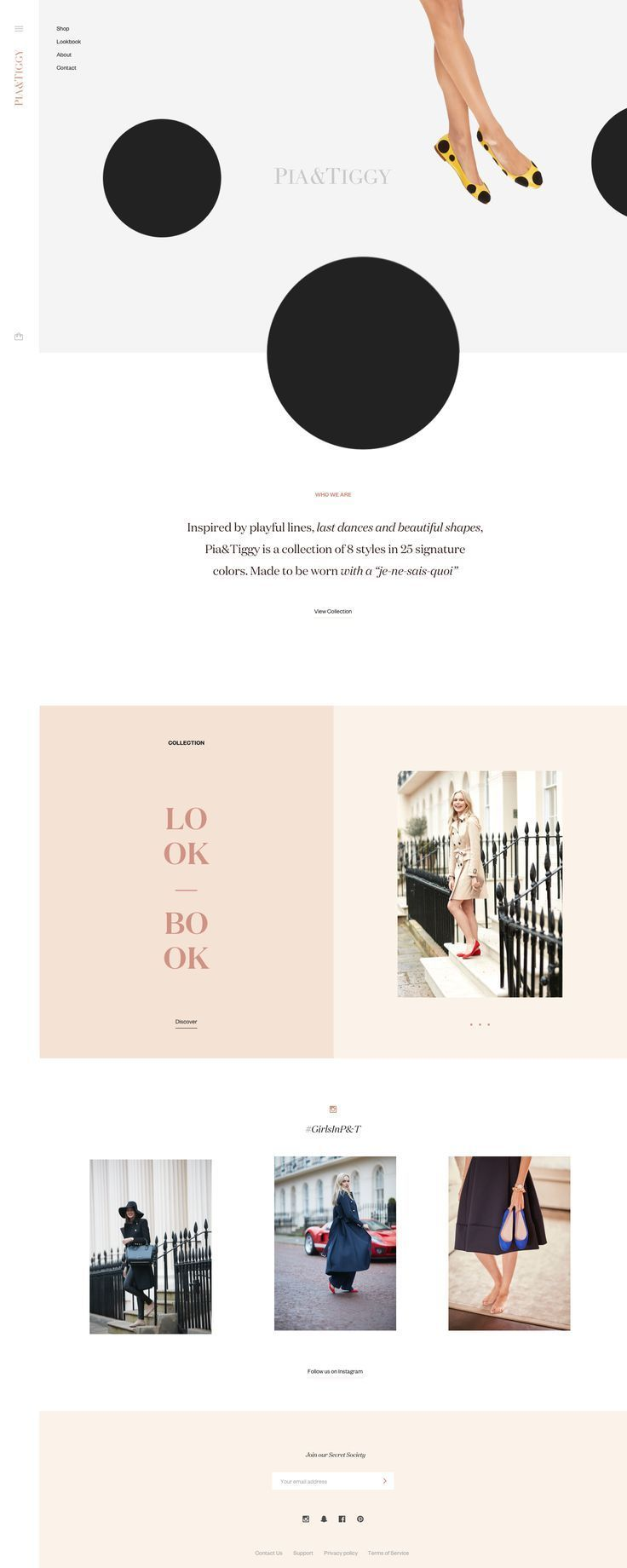Clean And Modern Web Design Sleek Layout And Gorgeous Feminine Shapes Perfect For Fashion Bran Modern Web Design Fashion Website Design Modern Website Design