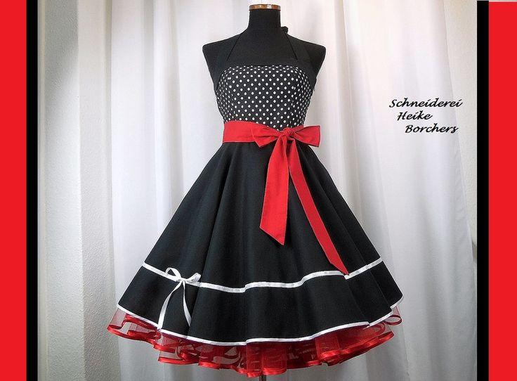 Petticoatkleider - Rockabilly Petticoatkleid Jana - ein Designerstück von Schneiderei-Heike-Borchers bei DaWanda