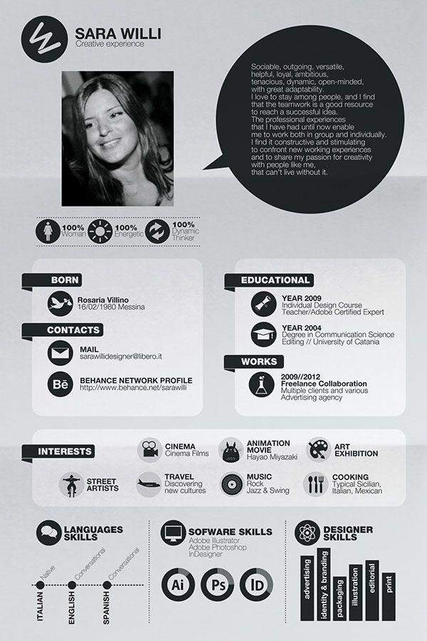 Self Promotion On Behance Graphic Design Resume Resume Design Template Architecture Resume