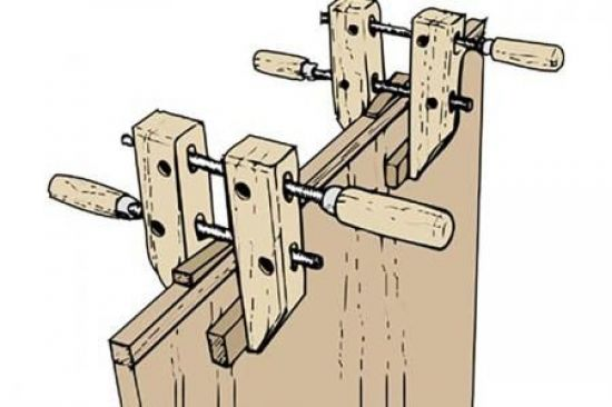 Woodworker's clamps secure glued edges too | WOOD Magazine ...