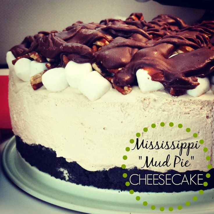 "No Bake"" Mississippi Mud Pie Cheesecake - Stretching Your Budget"