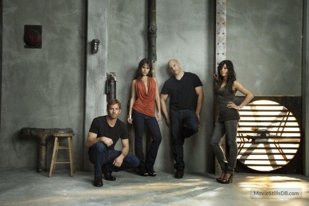 Fast & Furious - Promo shot of Vin Diesel, Paul Walker, Michelle Rodriguez & Jordana Brewster