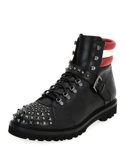 Bally Champions Studded Leather Hiking Boot
