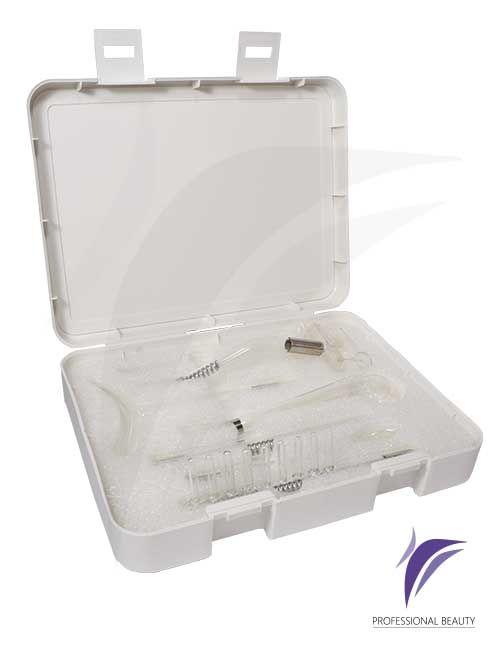 Kit de Electrodos Alta Frecuencia x7 Starwork:                                                            Electrodos de vidrio con gas de neón para ser utilizados en el equipo de alta frecuencia para los diferentes tratamientos.
