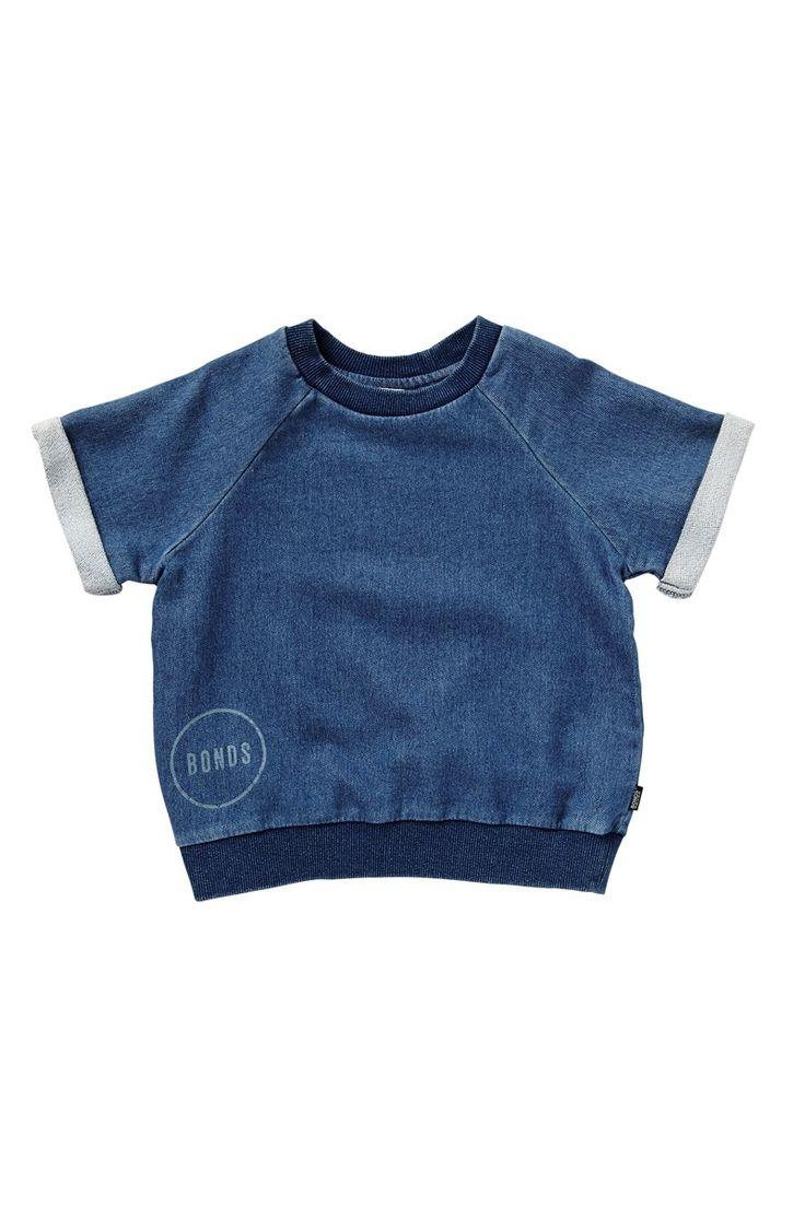 Bonds Kids Denim Terry Short Sleeve Pullover