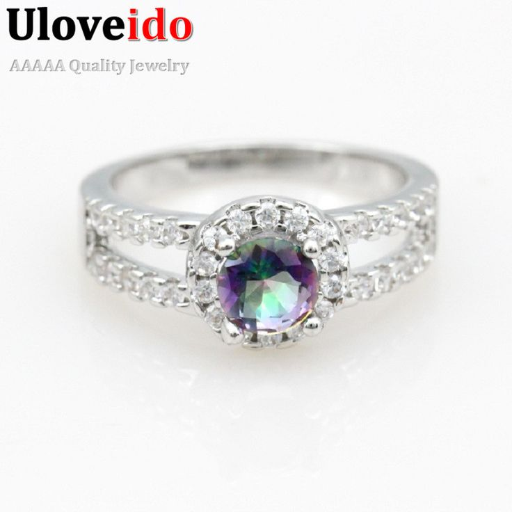 Find More Rings Information about Flowers Wedding Women Rings Rainbow Color…