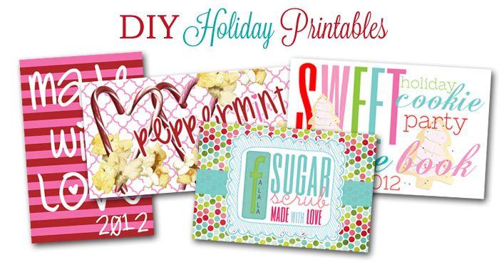 Printable holiday designs.