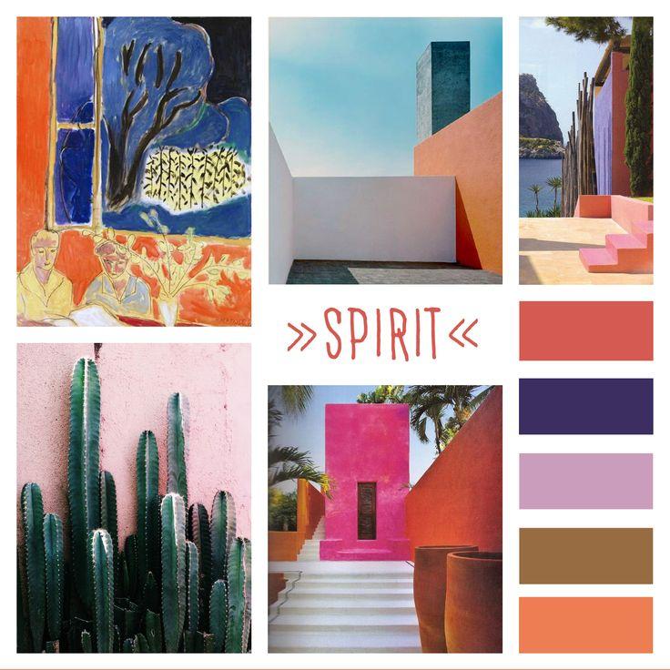 L'architecte mexicain Luis Barragán dessinait les maisons en grands à-plats de couleurs franches, un peu comme Matisse peignait ses tableaux. Ils ont inspiré notre collection Spirit, dont les motifs découpés jouent avec la lumière, évoquant le jeu du soleil sur une terrasse ombrée de cactus.