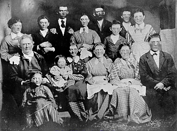 Civil War ancestors. The Sheltons, Coffee county TN. First row, left, John Wesley Shelton, my great, great, great grandfather. Coffee Co/ home guard. Next, seated is Sarah Emiline Shelton, my (3) great grandmother. her brother Eli Washington Hamby fought in the 44th Tenn. infantry at Shiloh and Chickamauga. Far right, James Drake, 4th Tenn. Cav. under Forrest. Back row, 3rd from right, Jesse Ransom Shelton, 4th Tenn. Cav. under Forrest.