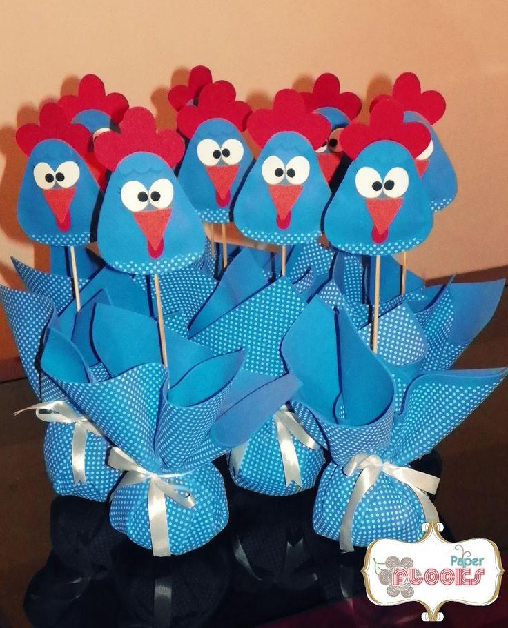 Enfeite+mesa+Peso+Porta+Lembrancinha+galinha+pintadinha+Paper+flocks+03.JPG (1292×1600)