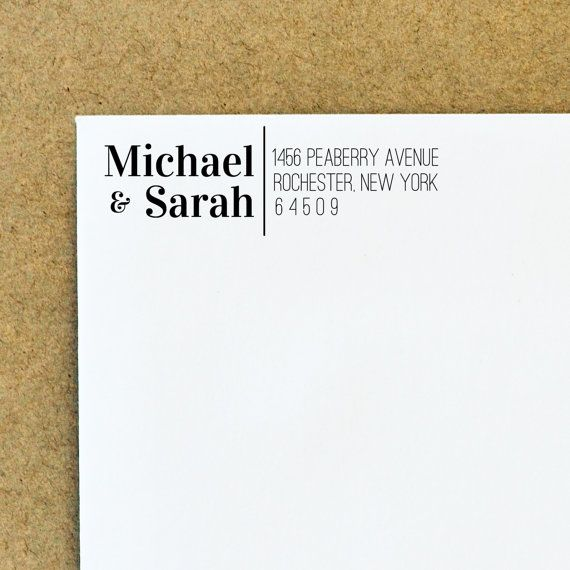 Custom Address Stamp - Self Inking Address Stamp - Wedding Gift - Bridal Gift $29.95