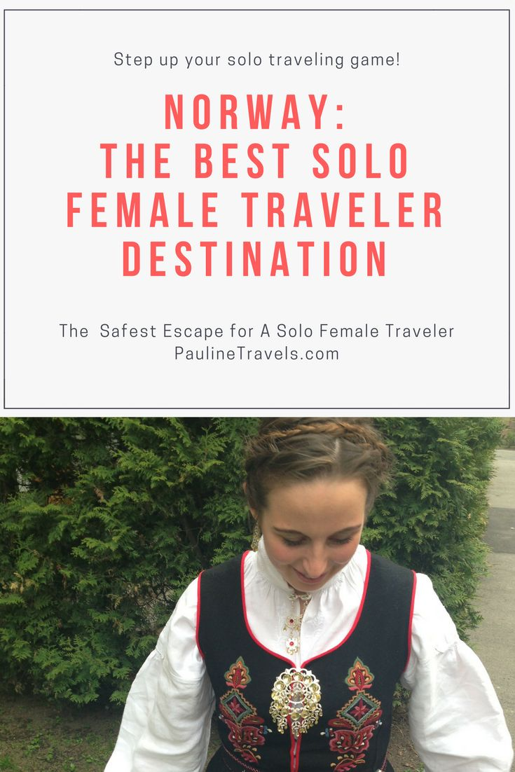Norway is the best solo female traveler destination in the world. Why is this? Is it because of the beautiful scenery like Geiranger and Fjord Norway? Or perhaps it's a low crime rate and the fact that almost everyone speaks English besides their native tongue Norwegian?
