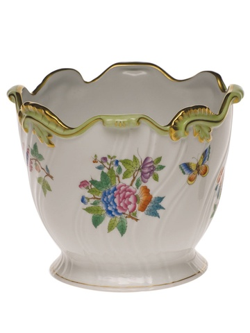 Herend Queen Victoria Ribbed Cachepot6.25H X 7D