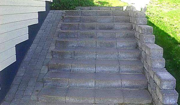 #Betoniset portaat ja rautaiset kivimiehet a´la Aalman Oy  Nämäkin #kivityöt vankkumattomalla ammattitaidolla.  Aalman Oy - kivityöt, p. 0400 159434