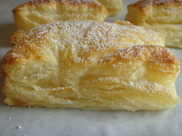 Pasteis de Gila- Puff Pastry is made using a sweet jam filling made from the fiber of the spaghetti squash. (or use lemon curd)