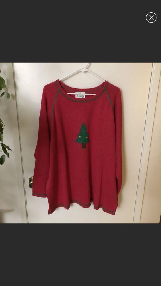 Quacker Factory Christmas Tree Sweater 3X #fashion #clothing #shoes