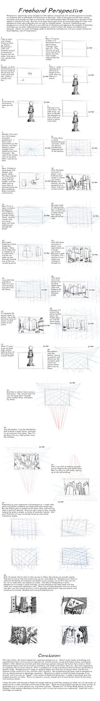 Freehand Perspective Drawing Tutorialby *Mahasiddha