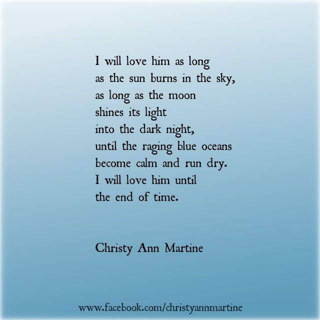 Until the End of Time love poem - love quotes - love ...