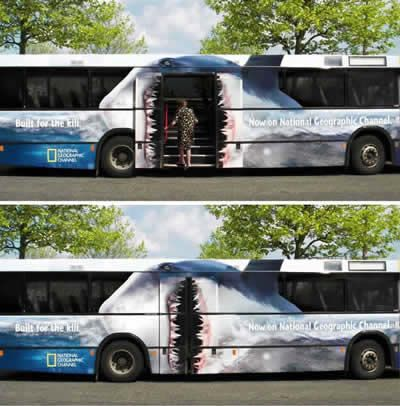 15 Most Creative Bus Ads - Oddee.com (funny bus ads, cool bus ads...)