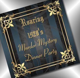 murder mystery roaring 20s invitation - and great party ideas @party-party Simplicity. Would LOVE to do one of these