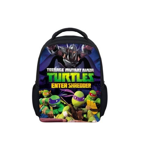 Impertex Fabric Children School Backpack With Teenage Mutant Ninja Turtles Printing