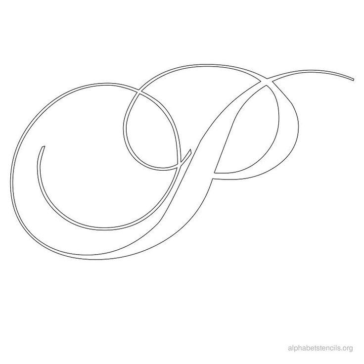 Alphabet Stencils Calligraphy P Monograms Pinterest