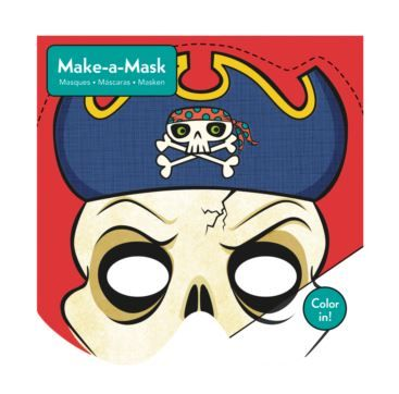 Make A Mask Pirates - Bobangles #Mudpuppy #mask #kids #pirate #party #craft #halloween