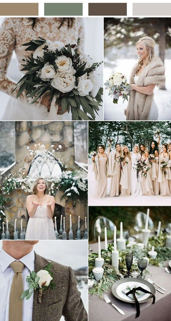 Top 5 Winter Wedding Color Ideas To Love With Images Rustic
