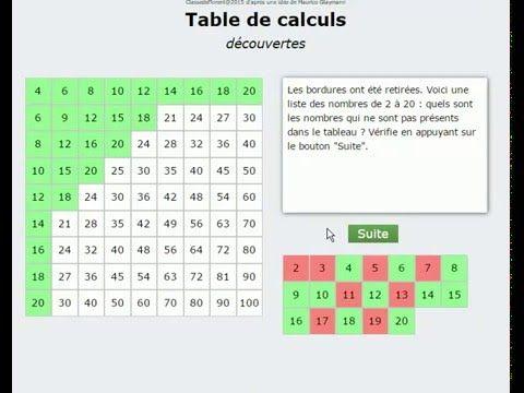 17 meilleures id es propos de calcul mental sur - Calcul mental table de multiplication ...