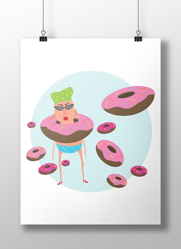 Illustration - donut II on Behance