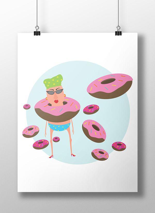 Illustration - donut II on Behance