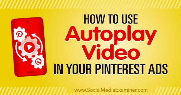 Here is a great blog for those of you wanting to get started with the hottest #MoneyMagnet currently available when marketing on Pinterest.  Introducing Autoplay video for your promoted pins...  https://www.socialmediaexaminer.com/tag/pinterest/