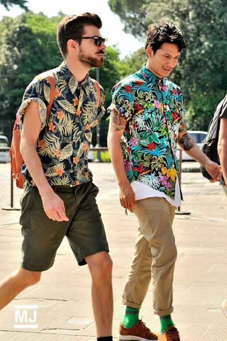 Hawaiian shirts are still popular today. They gained popularity during and after the war because veterans would return home with the shirts. The bright, tropical prints were a more casual, relaxed look in menswear.