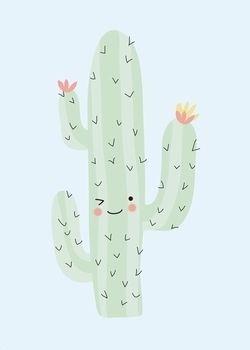 #Poster #cactus #limited geweldige cactus 50x70 #pastel from www.kidsdinge.com…