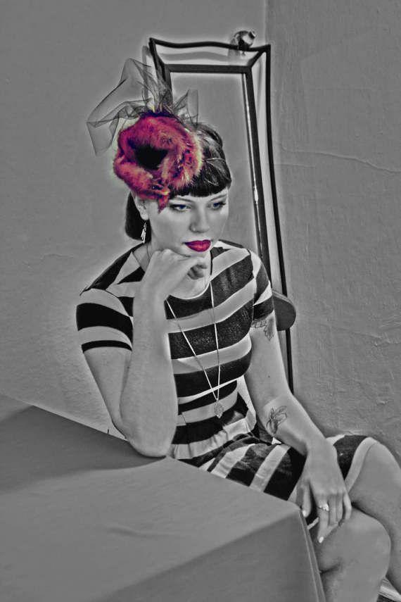 BW Photo Femme Fatale Portland model Film noir art by PDXPhotofem