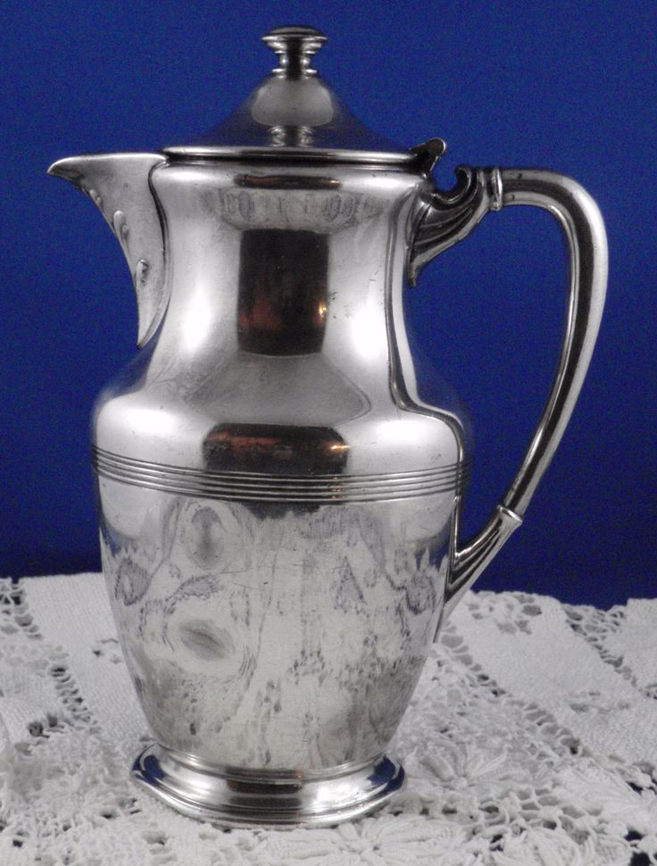 Silverplate Lidded Hot Water jug , Wm A Rogers Canada, EPBM by WestCountryVintage on Etsy