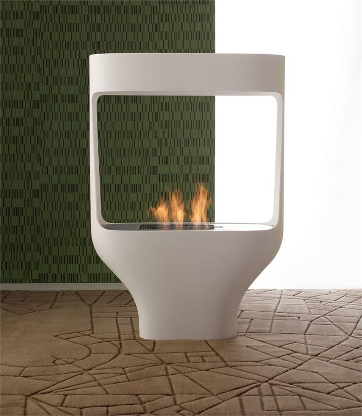 Bioethanol Corian® fireplace TULIP by ITALY DREAM DESIGN | #Design Matteo Ragni #fireplace #interiors